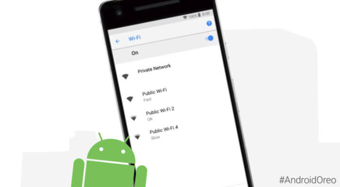 Wifi Android 8.1 oreo