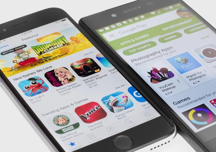 Google vs Apple: revelados los datos de sus tiendas de aplicaciones en 2017