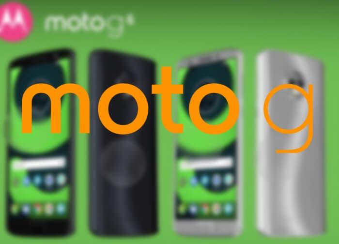 Así serán los nuevos Motorola Moto G6, G6 Plus y G6 Play