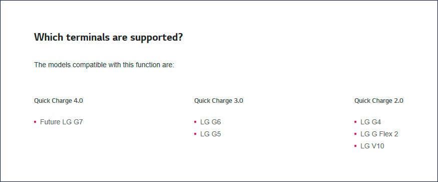 LG G7 carga rápida