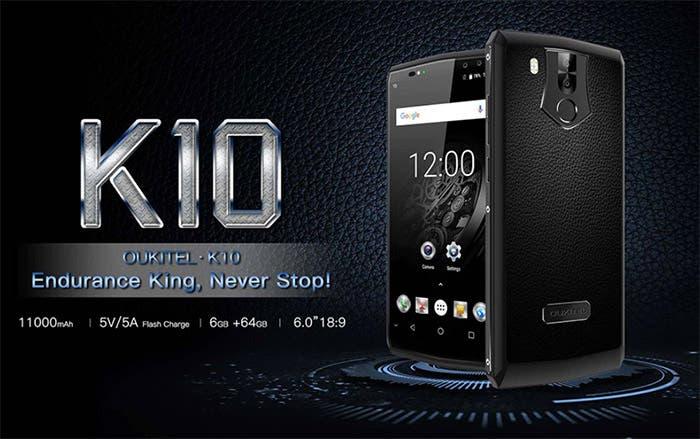 oukitel k10 bateria