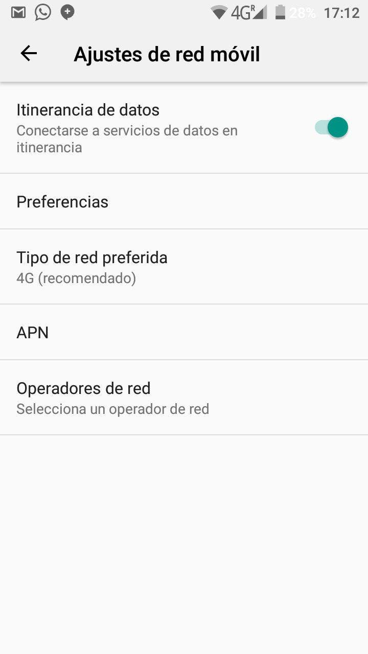 redes móviles android