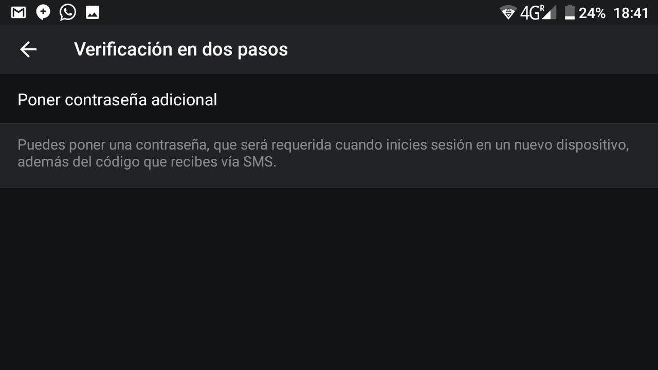 verificación en dos pasos Telegram