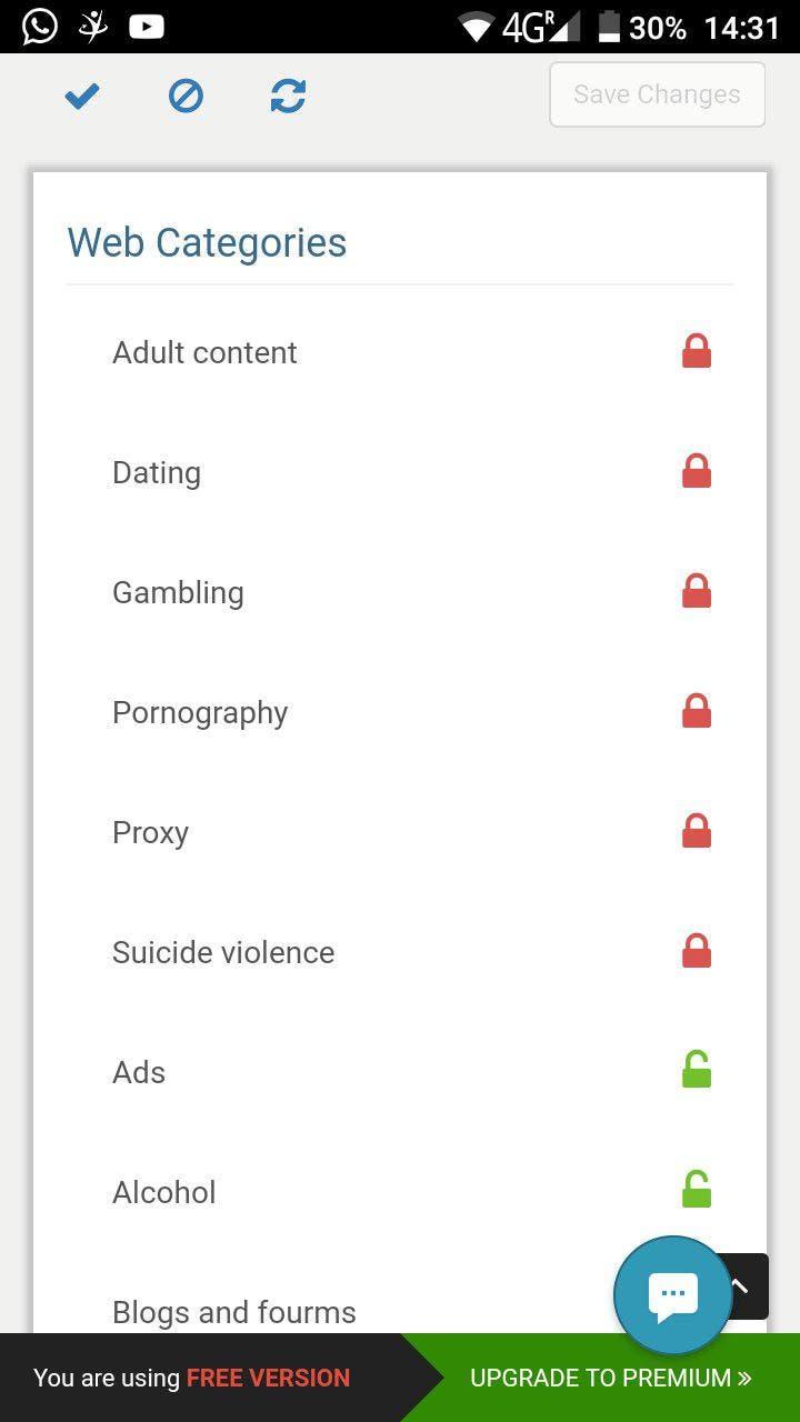 limitar porno en android