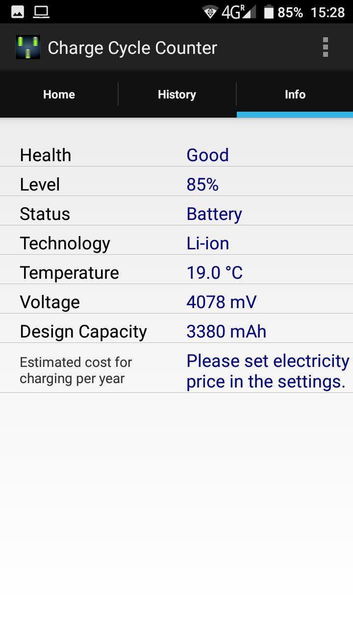información bateria android