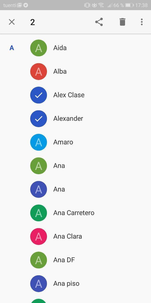aplicacion de contactos android