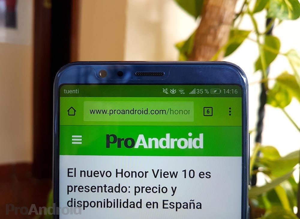 pantalla honor view 10