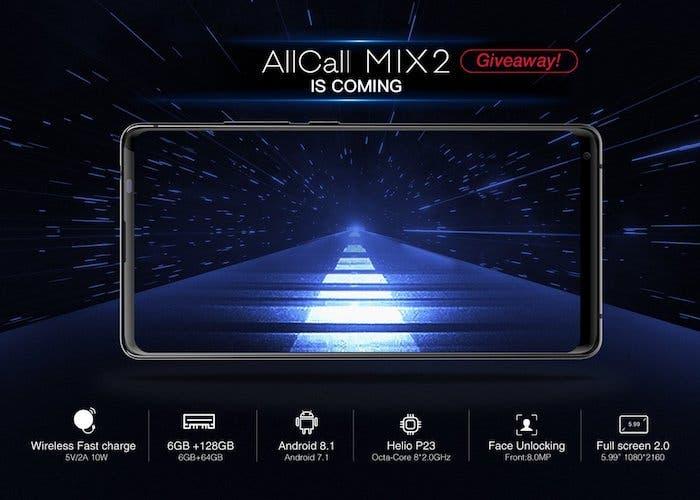 Se confirman las especificaciones del AllCall MIX 2: vendrá con carga rápida inalámbrica