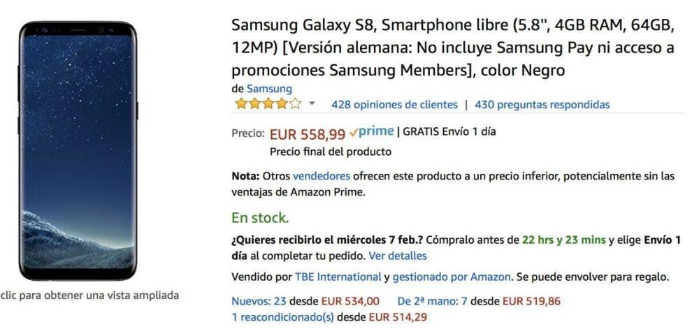 oferta galaxy s8