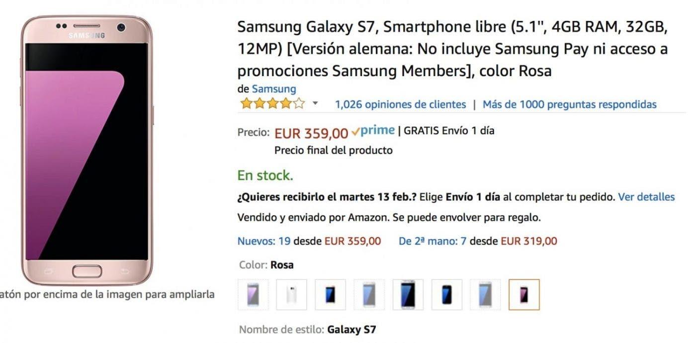 oferta del galaxy s7 más barato