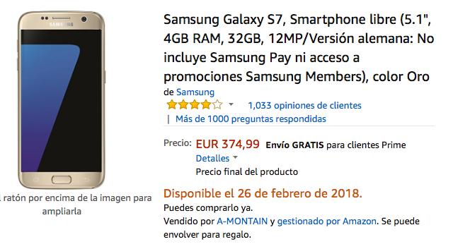 oferta del galaxy s7