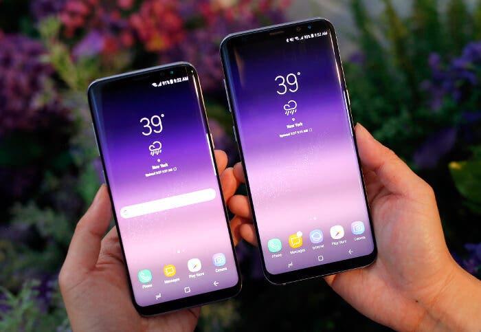 Samsung Galaxy S8 vs Galaxy S8+ en la mano