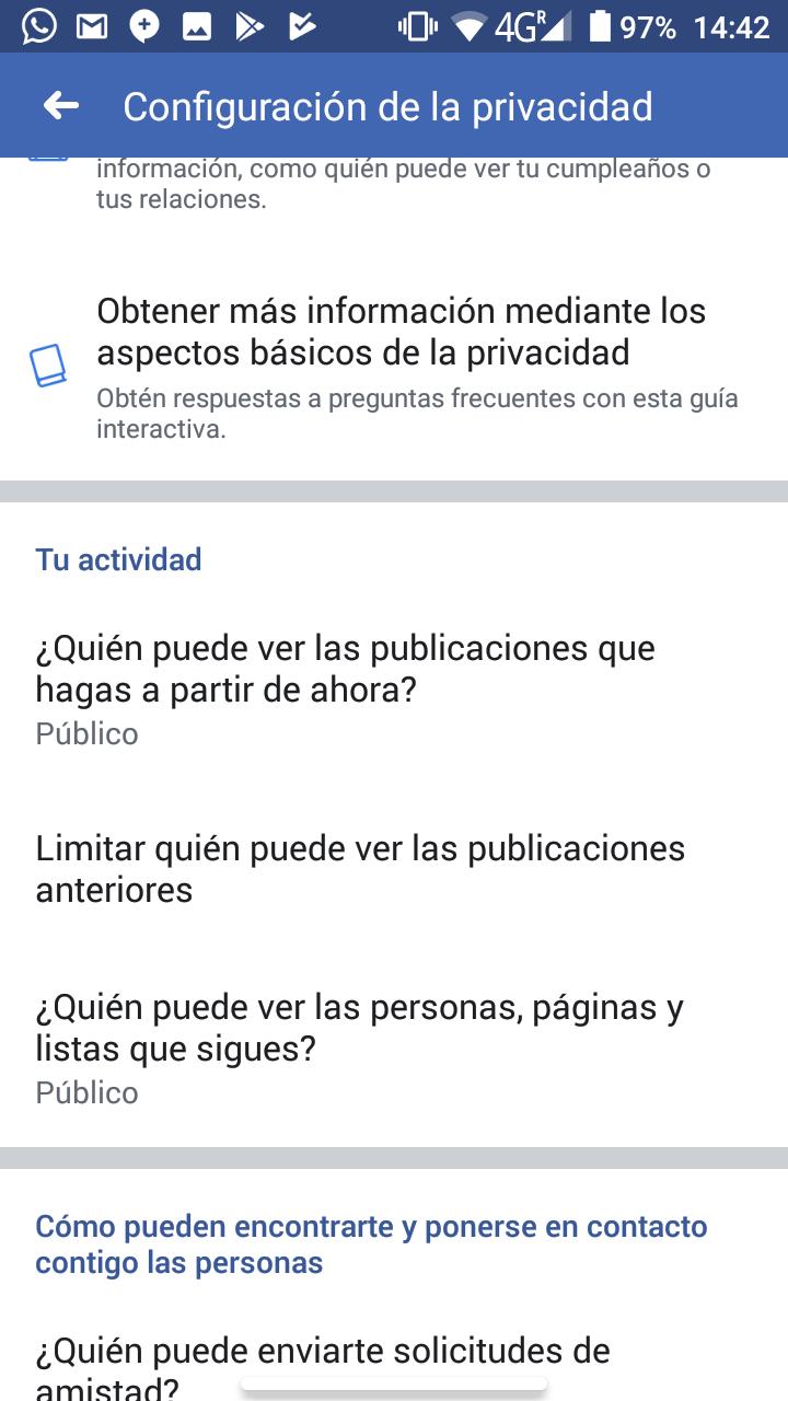 ocultar las publicaciones en facebook