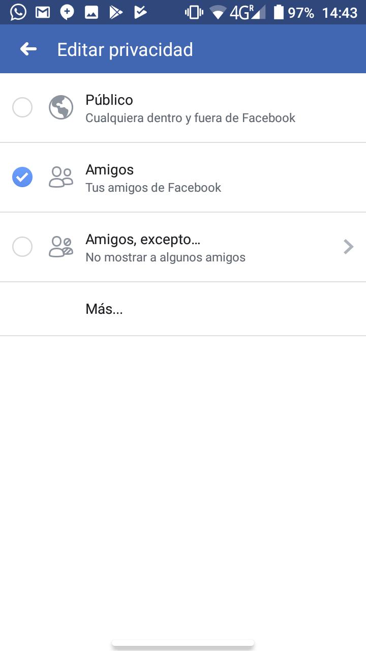 ocultar las fotos en facebook