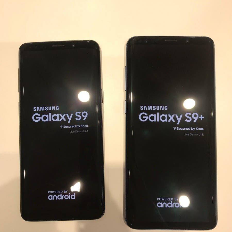 frontal del samsung galaxy s9 y s9+
