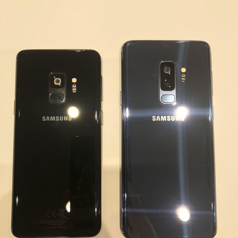 trasera del samsung galaxy s9 y s9+