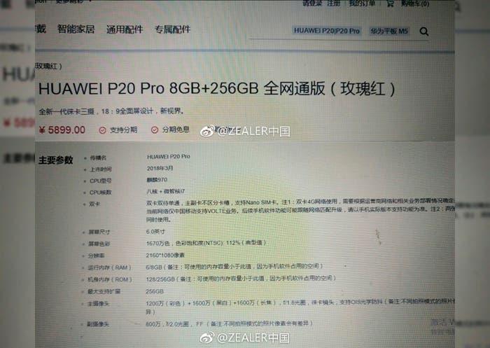 Filtración Huawei P20 Pro