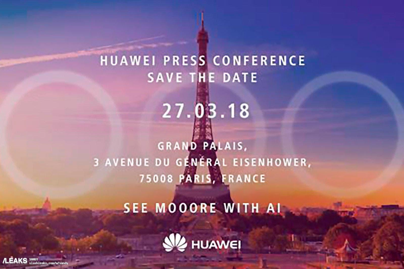 Invitación Huawei P20