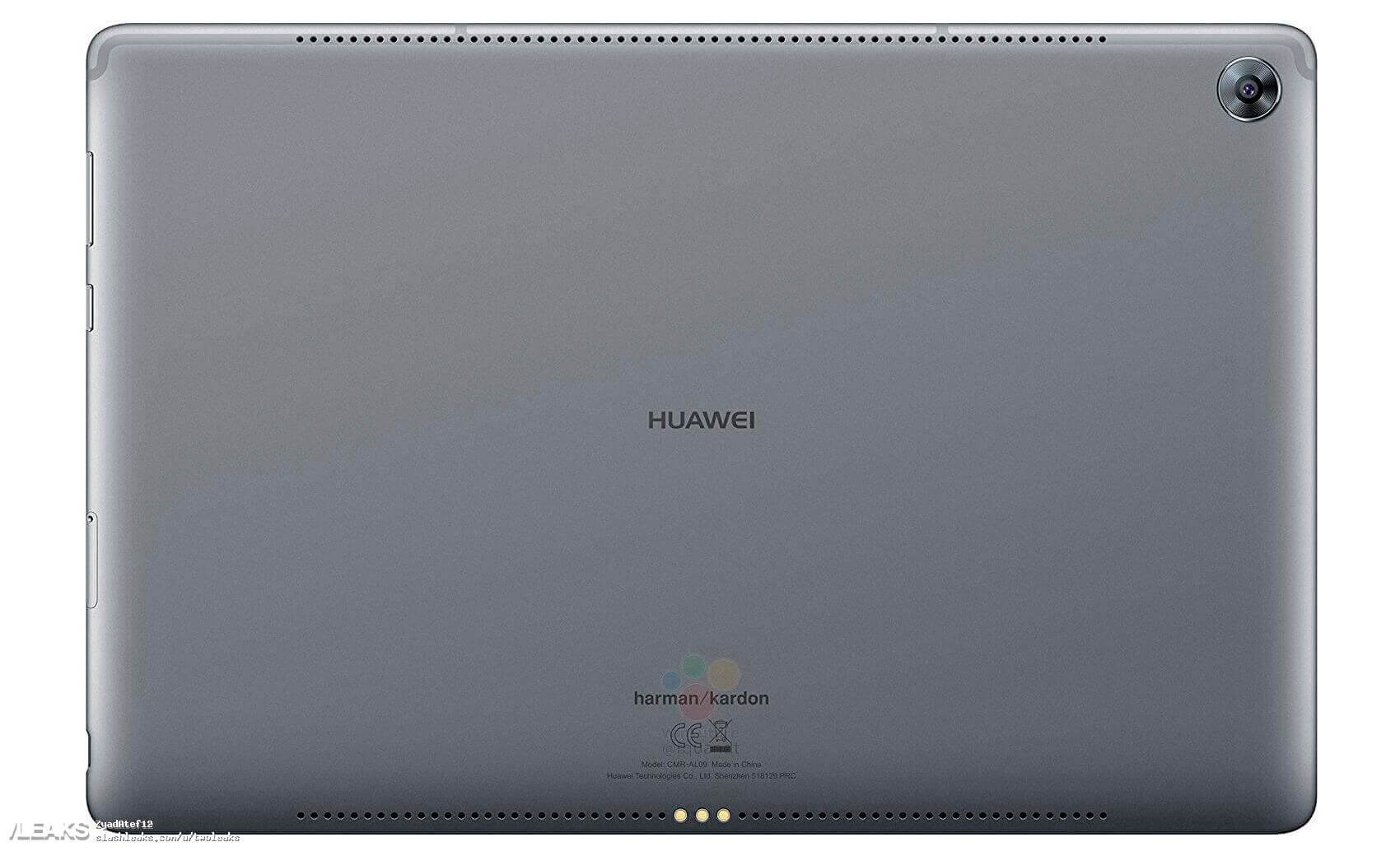 Huawei MediaPad M5 detrás