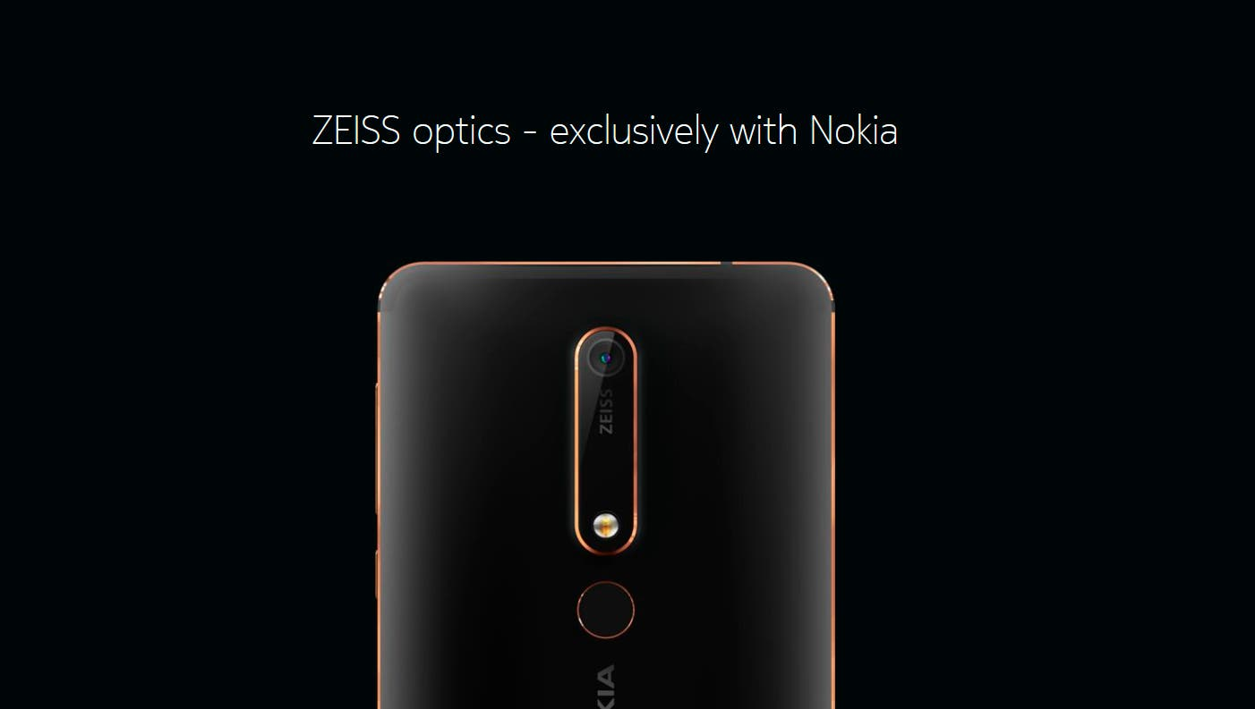 Nokia 6 2018 cámara