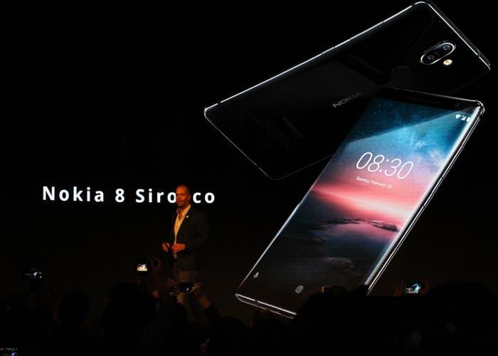 Este es el Nokia 8 Sirocco, el primer terminal de la marca con pantalla curva