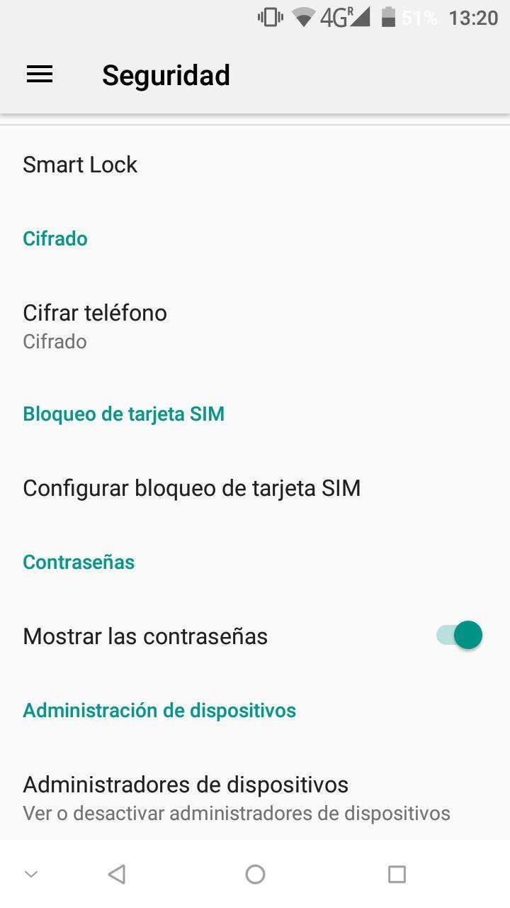 cambiar el código PIN en Android