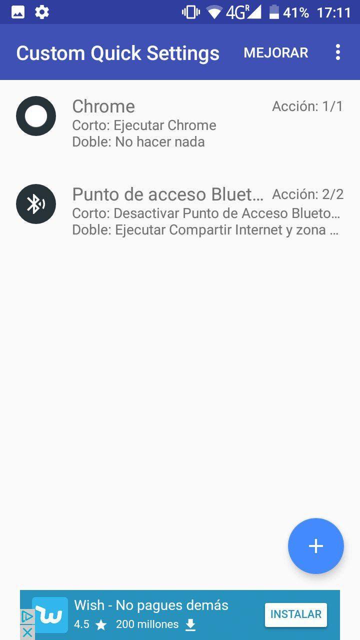 personalizar los ajustes rápidos de Android