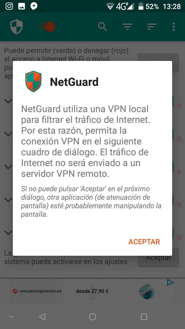 bloquear el acceso a internet en android