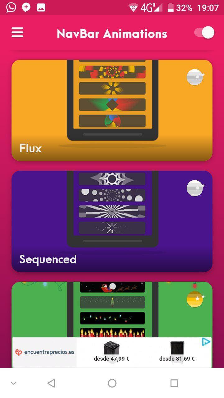 NavBar Animations app