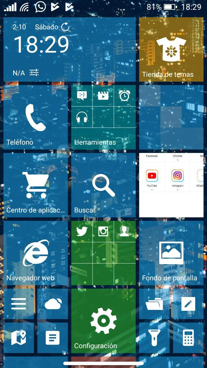 windows phone en android