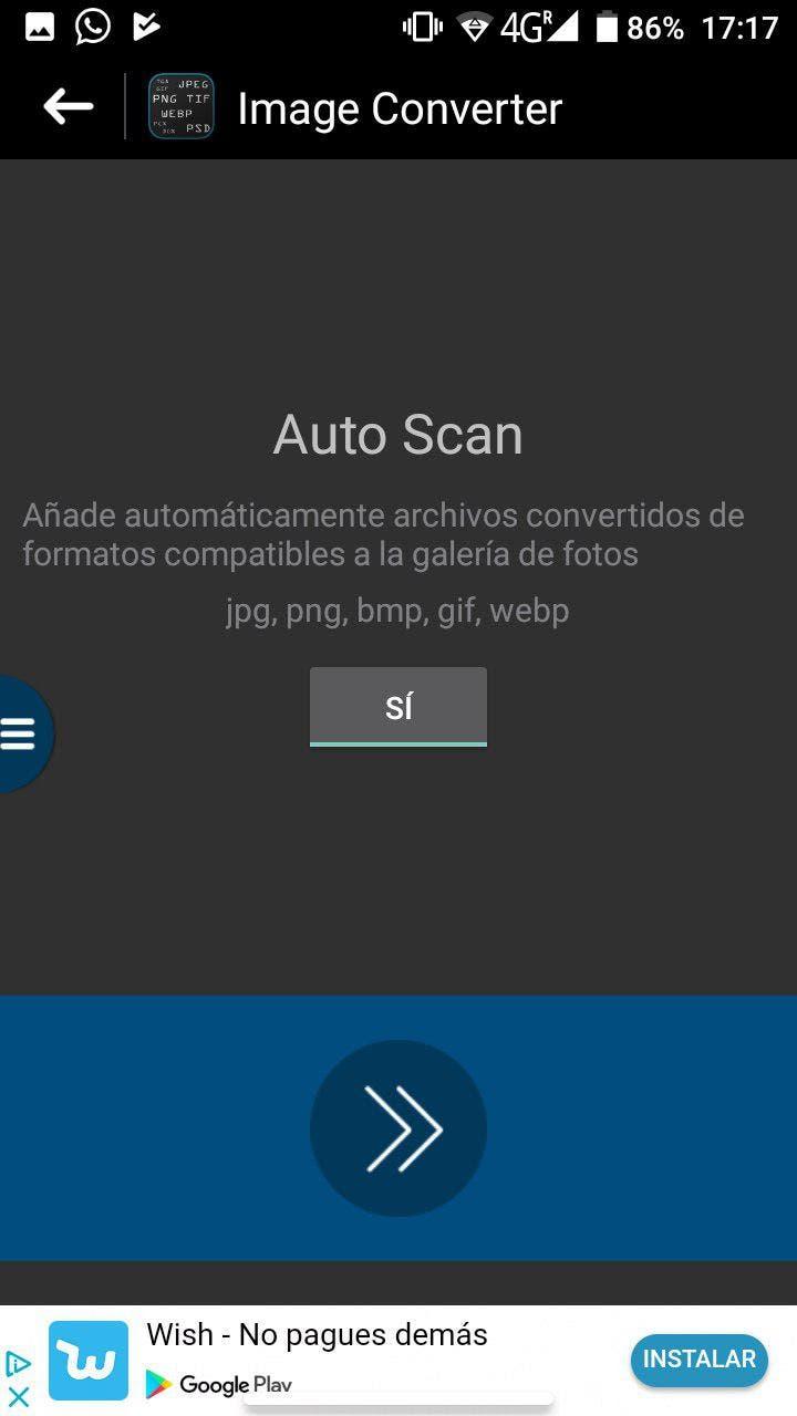 cambiar el formato de las imágenes en android