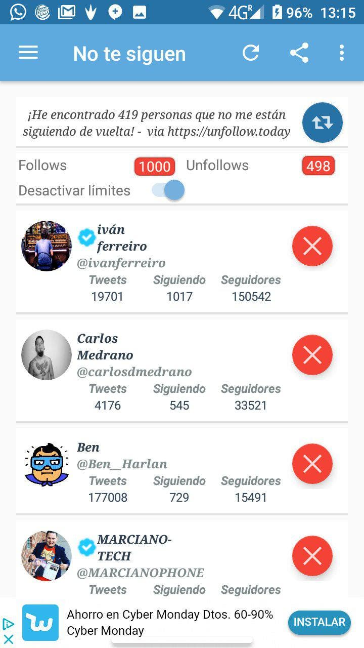 ver quien te ha dejado de seguir en Twitter