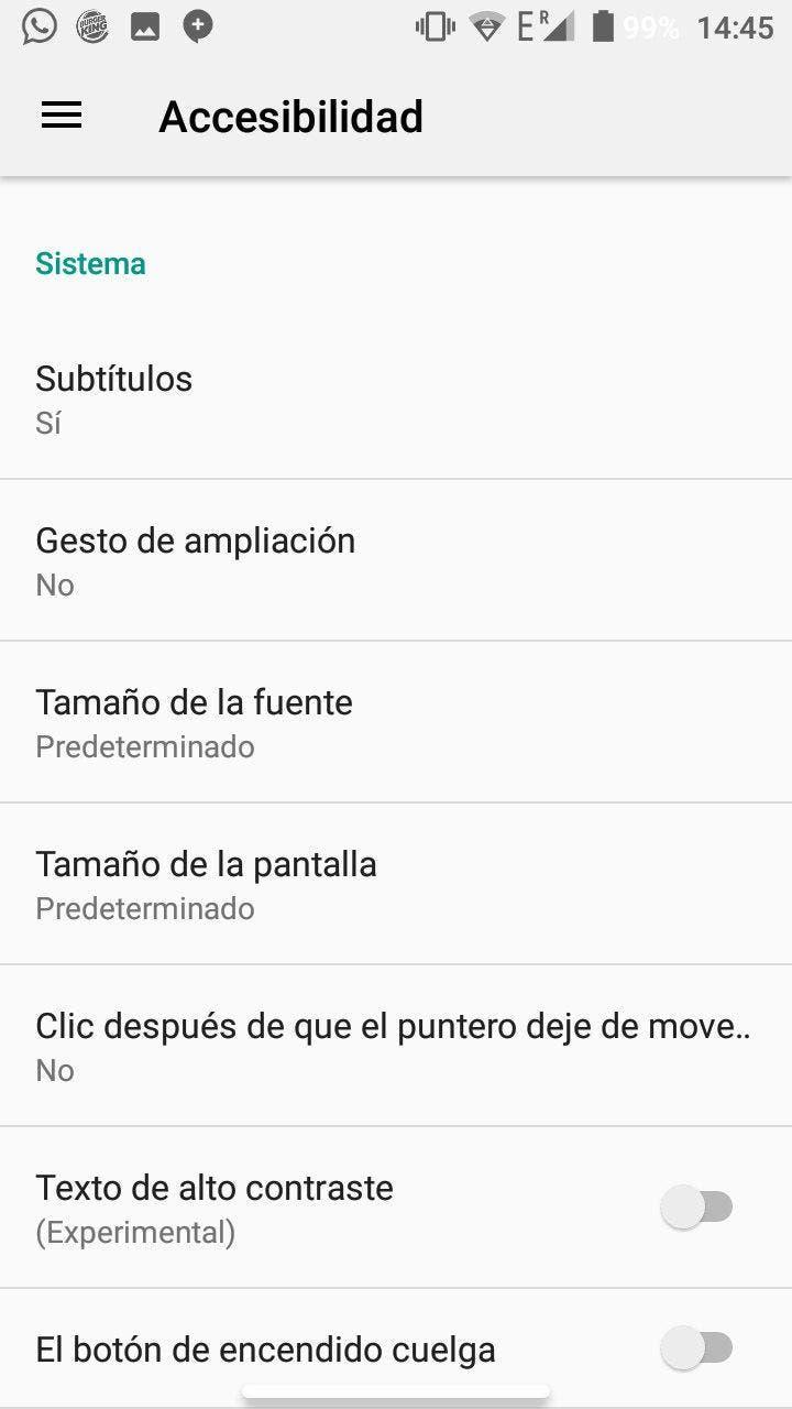 accesibilidad de android