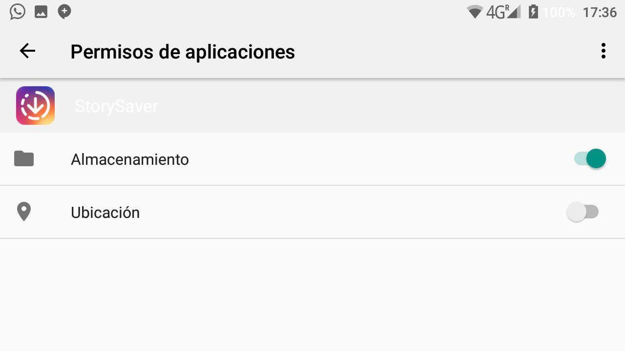 permisos de las apps en android
