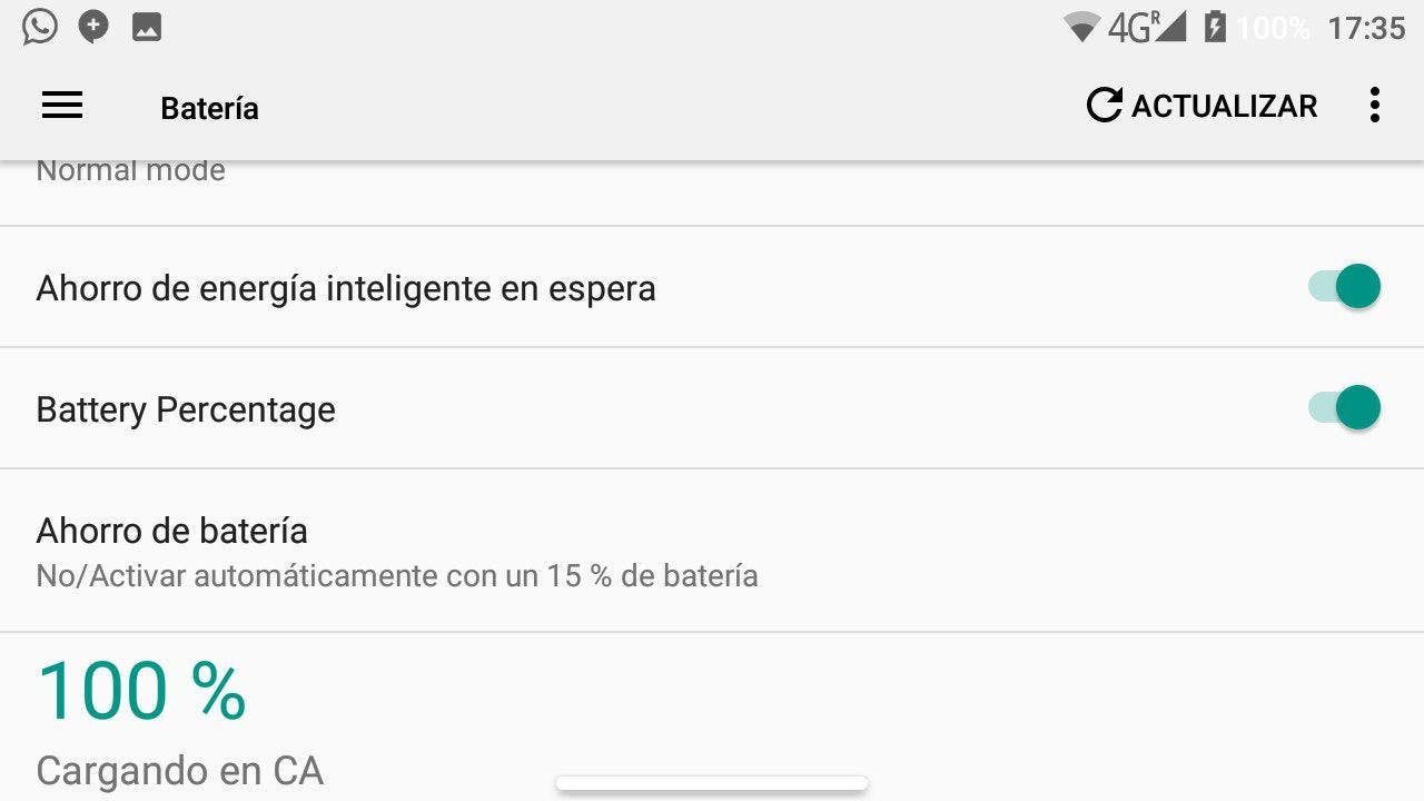 optimización de bateria en android