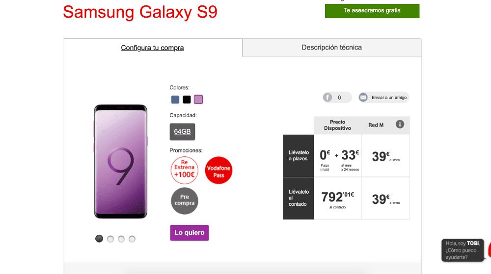 samsung s9 comprar en movistar