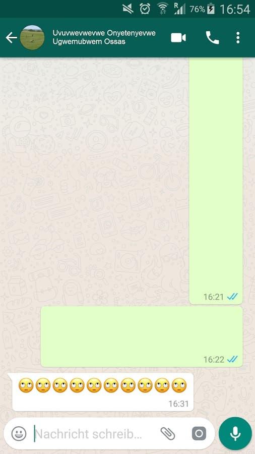 mensaje vacío en whatsapp