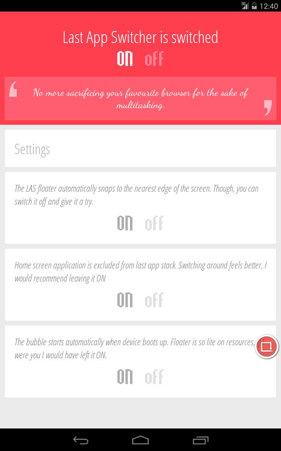 Last App Switcher app