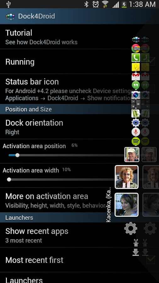 dock en android