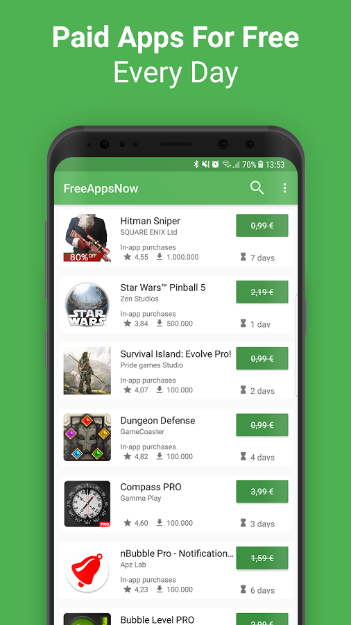 FreeAppsNow aplicacion android