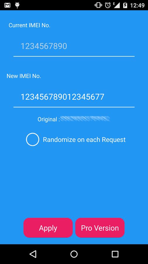 cambiar el IMEI en Android
