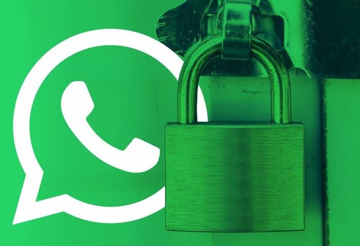 whatsapp verde y candado