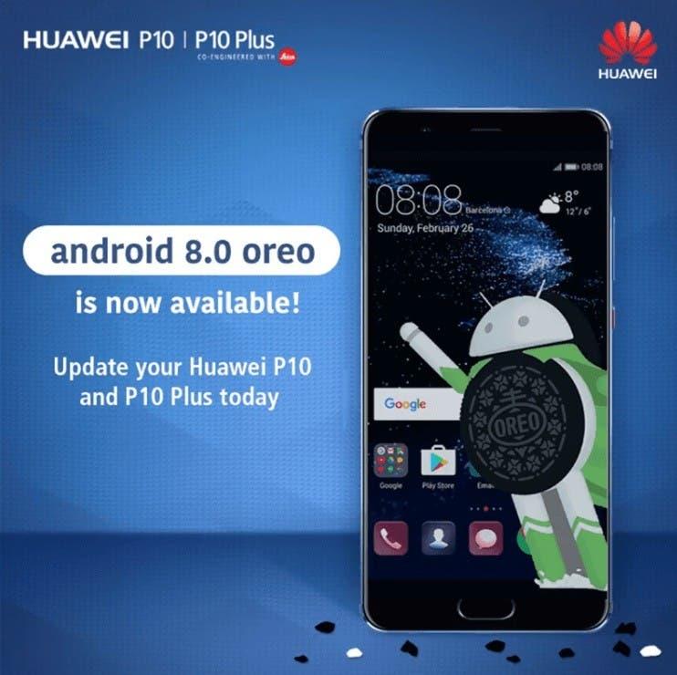 Android Oreo para el Huawei P10