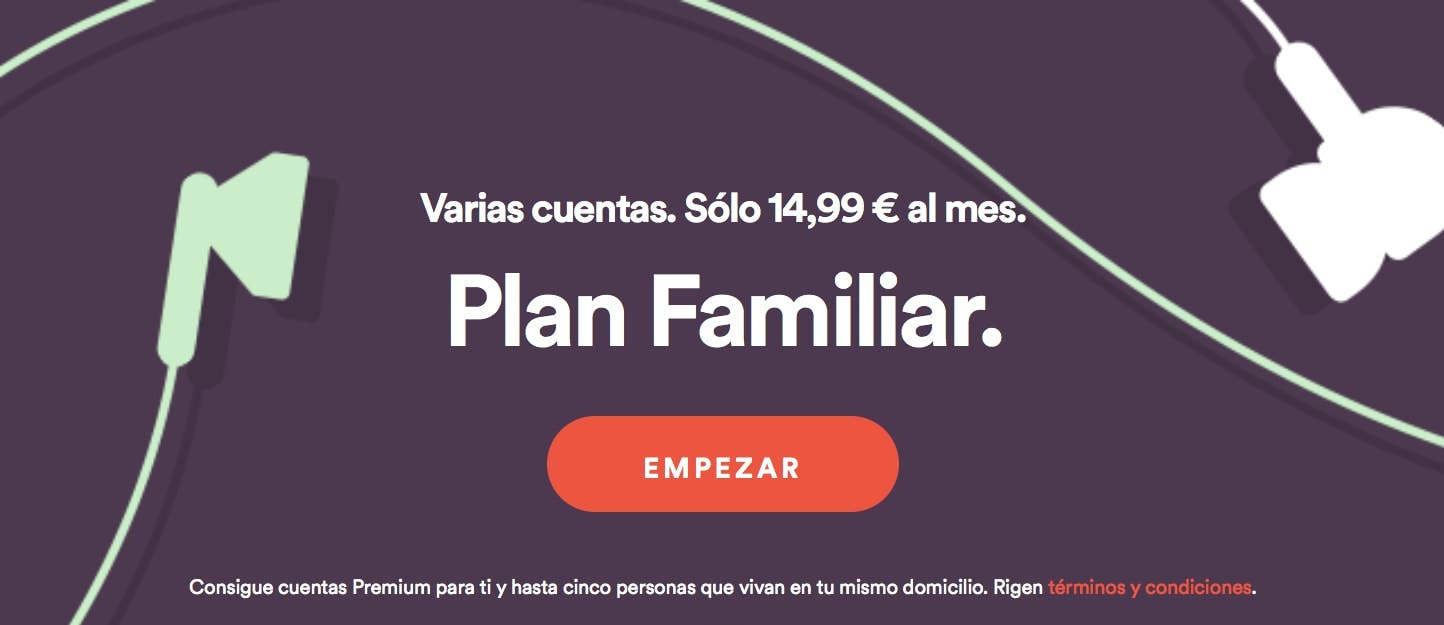 Spotify premium para familias