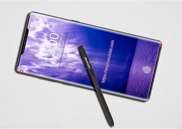 Los primeros renders del Samsung Galaxy Note 9 aparecen con triple cámara y sensor de huellas en pantalla