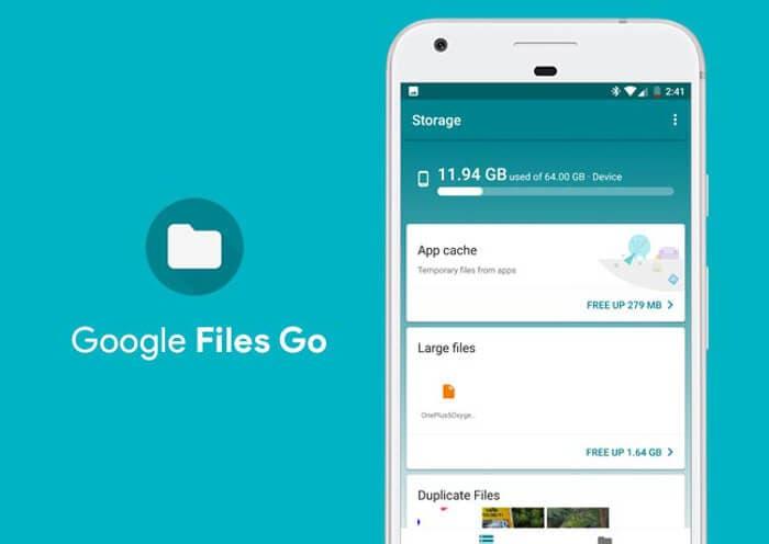 Google Files Go se actualiza para ahorrar más espacio en tu dispositivo