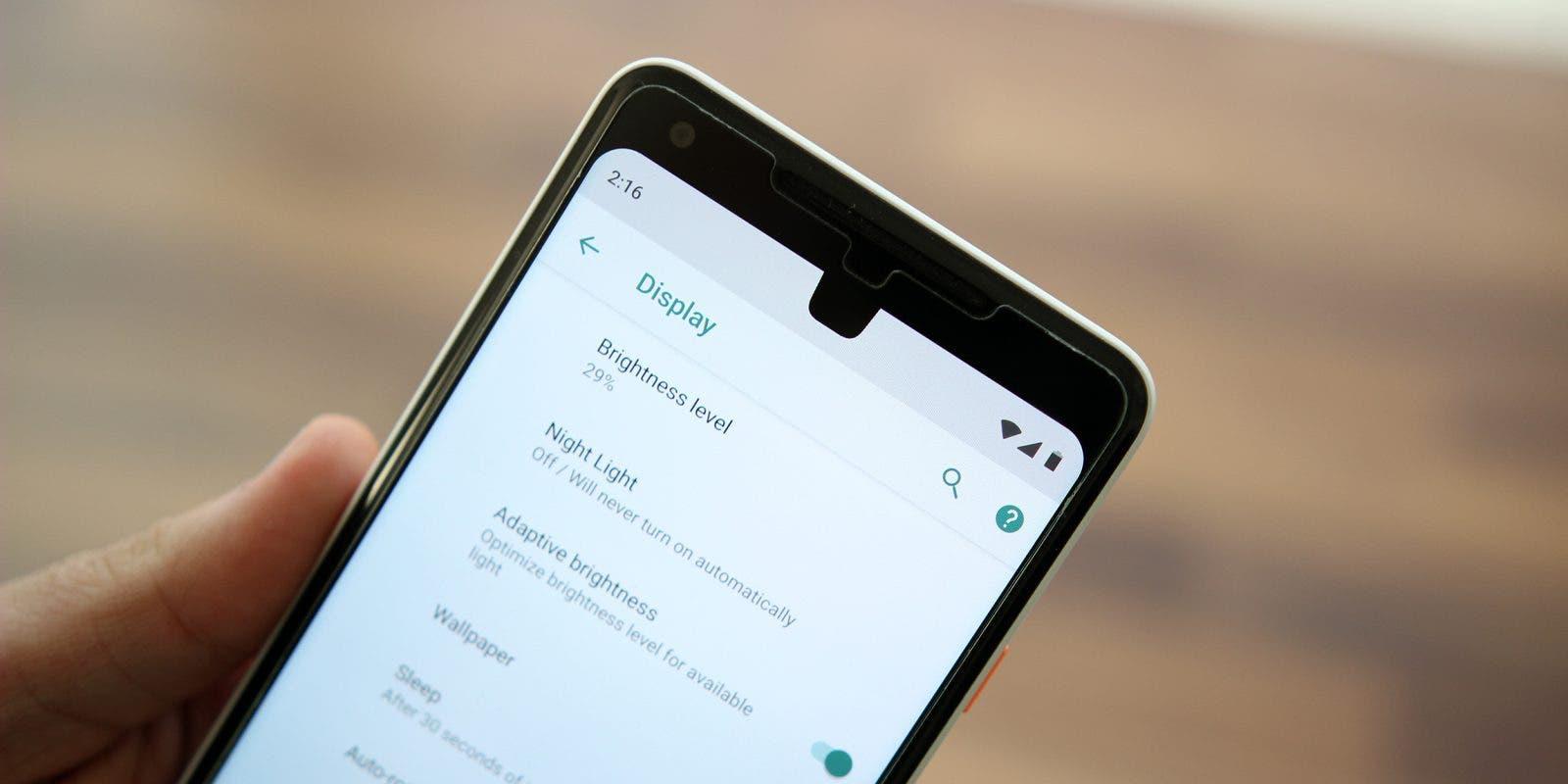 notch de android p 9.0
