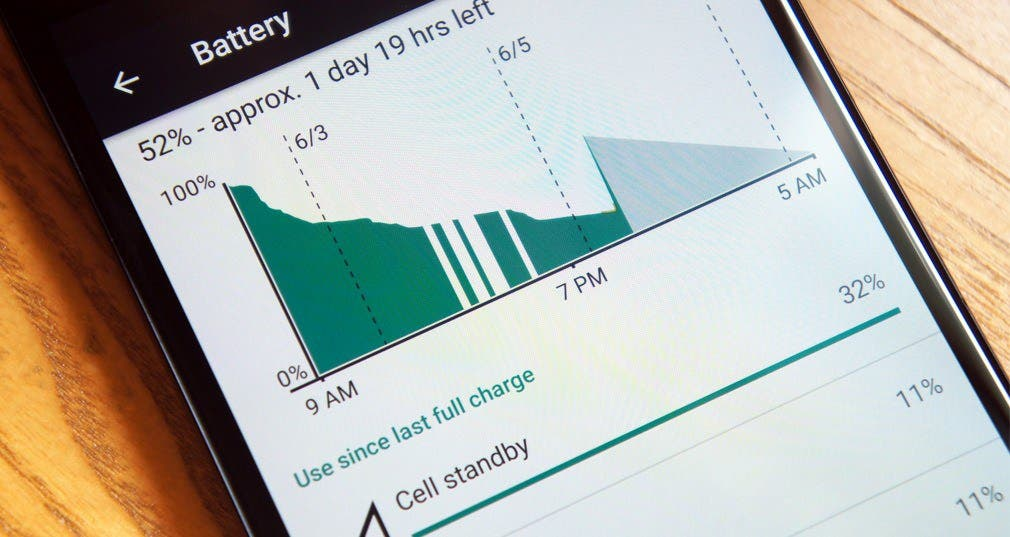 bateria en android