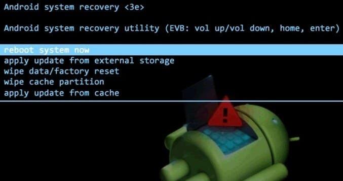 menu de recovery en android