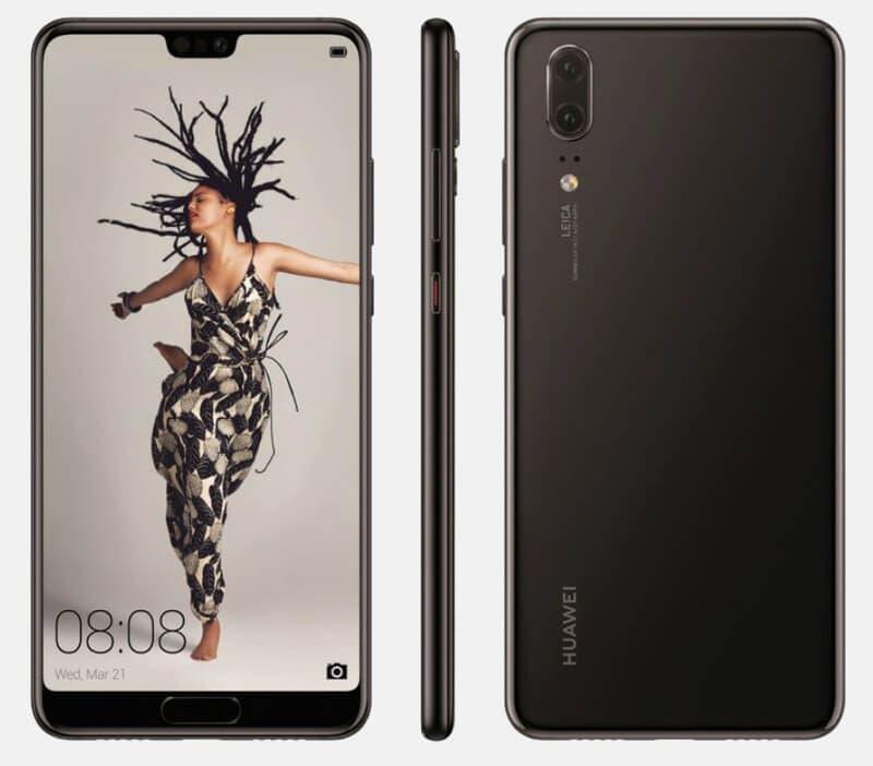 render del Huawei P20